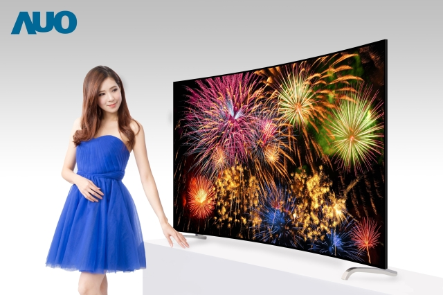 AUO`s bezel-less ALCD TV display expands field of view to its maximum. (photo from AUO)