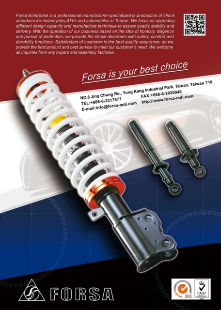 A high-end shock absorber developed, made by Forsa.