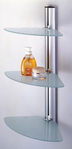 Zona's Shower Cabby wall shelf features minimalist exterior design, easy maintenance and lightweight.