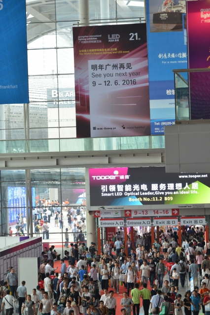 GILE 2016 is set to open on June 9 at the China Import and Export Fair Complex, to provide participants a close look at new trends in the lighting and LED market (photo courtesy of GILE organizer).