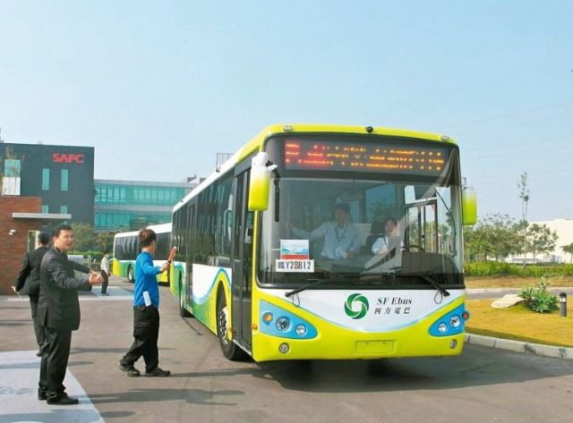 Taiwan-made electric buses offer a greater balance between quality and price than competing models from Japan and China (photo courtesy of UDN.com).