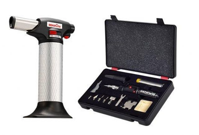 Caption: Rekrow's multi-purpose soldering tool kit is an ideal tool for soldering, brazing, heat-shrinking work (photo courtesy of Rekrow).