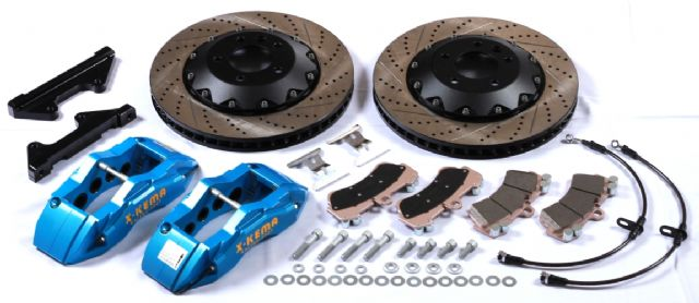 KEMA's front 8-piston big brake kit with 380 x 32 mm rotors (photo courtesy of KEMA).