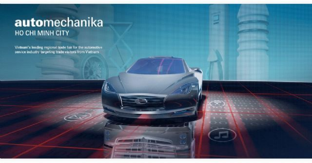 Automechanika Ho Chi Minh City, scheduled March 15, 2017, will provide auto & motor parts suppliers an easy access to Vietnam's massive domestic market for cars and motorcycles (photo courtesy of Messe Frankfurt).