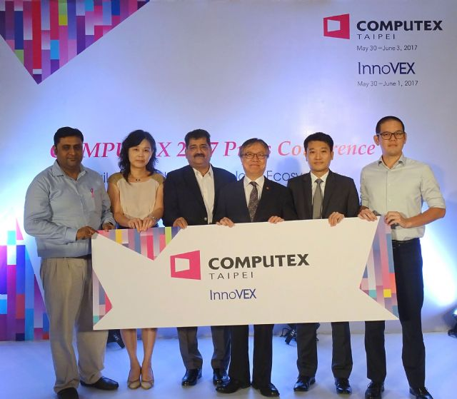 TAITRA held the first overseas pre-show press conference for COMPUTEX 2017 in India (photo courtesy of TAITRA).