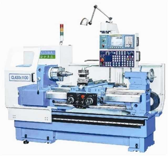 Chin Hung's CL-430 Dialogue-type Lathe requires less manpower during operation and features high productivity (photo courtesy of Chin Hung).