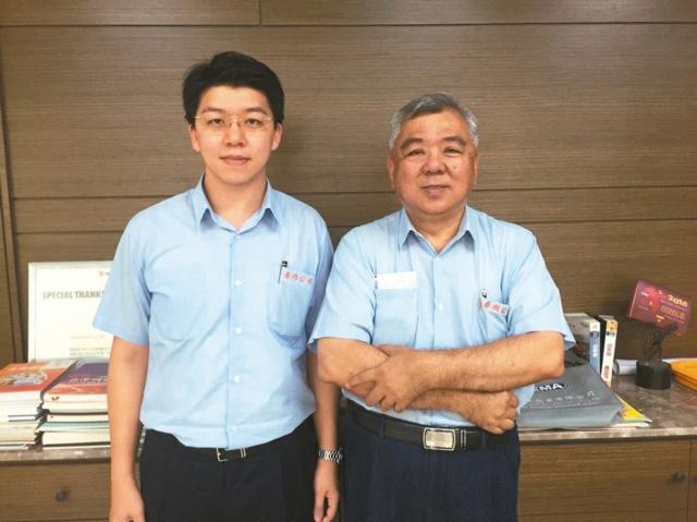 春雨特助李昱宏(左)春雨總經理李明晃(右) 圖/經濟日報