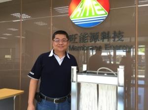 膜旺能源科技董事長林芳慶博士。 張傑/攝影