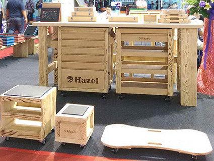 百旭朋實木工具櫃受到國際買家青睞。 郭芳伶/攝影