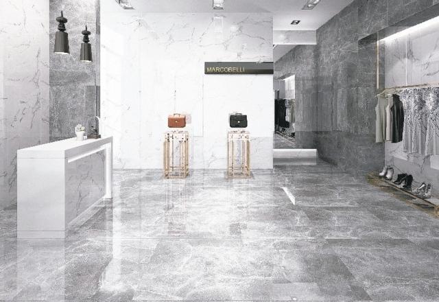 強調源於石材、勝於石材的大理石磁磚,將磁磚紋理表現自然,蘊涵天然石材的高貴質感,已成為追求格調生活與精緻空間人士的首選。 馬可貝里磁磚/提供
