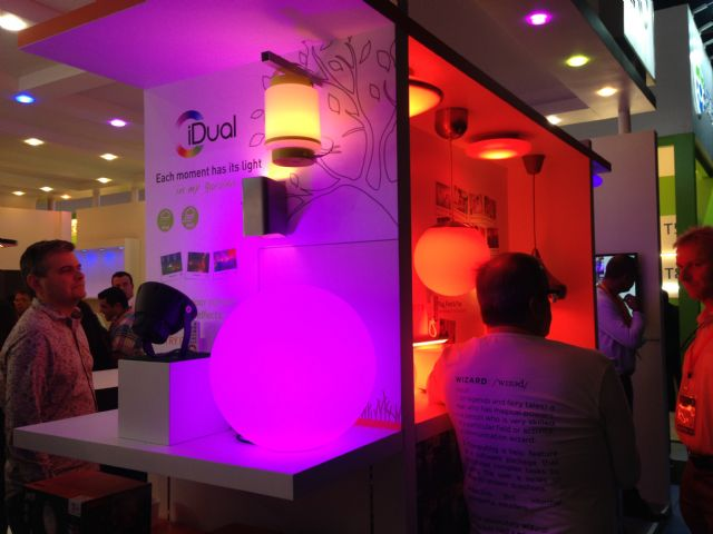 Smart lighting was a big hit among others to visitors at the exhibition.