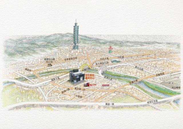 台北設計建材中心位置便利,便於掌握整體北台灣市場脈動。 經營團隊/提供