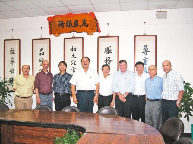 1996年Prestolite技術總裁、業務副總裁到和大參訪情形。