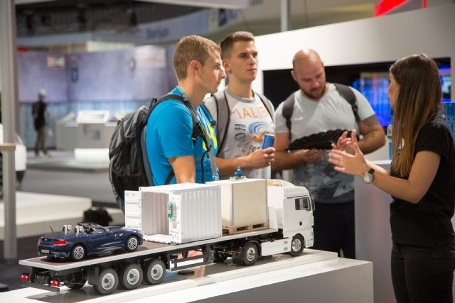 """Tomorrow's Service & Mobility"" in Hall 2 attracted an influx of visitors interested in technologies and products of the future (photo courtesy of Messe Frankfurt)."