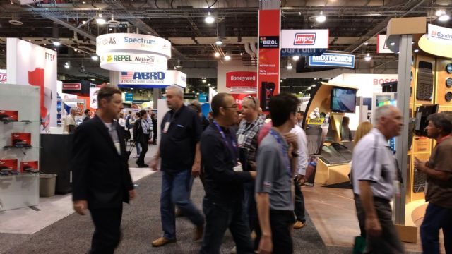 A large number of visitors and buyers crammed into the Sands Expo during AAPEX 2016.