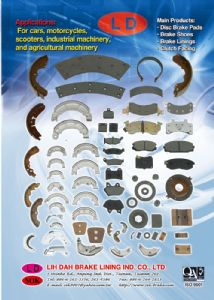 Lih Dah supplies a variety of brake pads, brake linings, brake shoes.