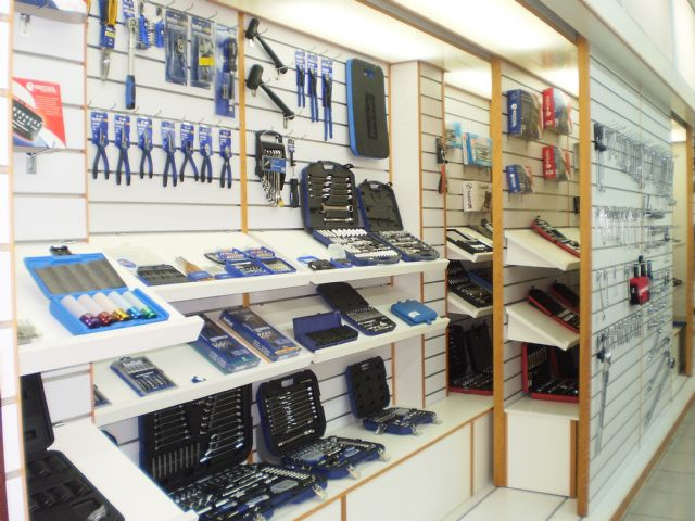 A-Kraft's showroom displays a variety of hand tools the OEM maker has developed.