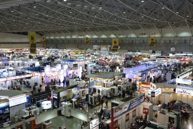 TIMTOS 2017 hosts over 1,100 exhibitors and showcases a full line of machine tools and related products from March 7 through 12 in Taipei, capital of Taiwan (photo courtesy of show organizers).