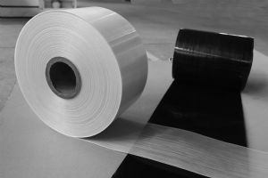 65% continuous glass fiber reinforced polyamide 6 UD-tape from CGN Juner New Materials Co., LTD. (photo courtesy of show organizer).
