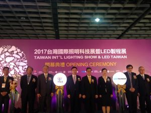 The joint opening ceremony of TILS and LED Taiwan 2017 was held Api. 12 with Taiwan Vice President Chen Chien-jen (center) attending.