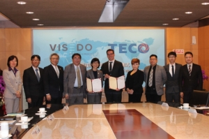 Cens.com News Picture Visedo與TECO東元電機簽約儀式 雙方達成技術協議合作切入重型電動車馬達行業