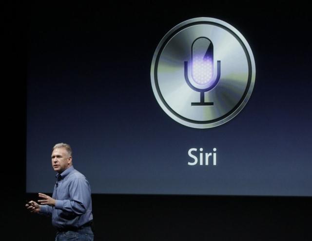 蘋果2011年發表會介紹siri資料照。圖/聯合報系資料照