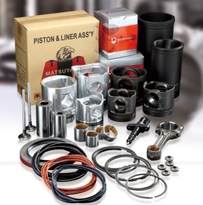 Cens.com News Picture Matsuyama Co., Ltd.<h2>Cylinder liner kits, piston kits, iron pistons, piston rings, piston pins, bushings, liner O-rings, overhaul gaskets, head gaskets, nozzle tubes, oil seals</h2>