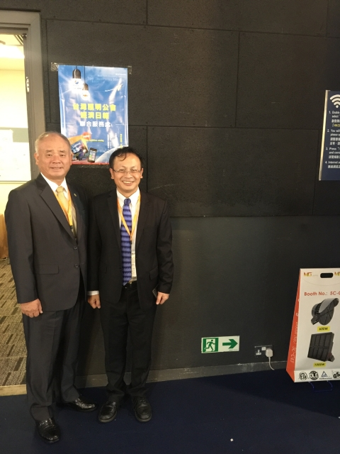 Soddy Huang, chairman of TLFEA (LEFT) and Tsu-Chen Chou, general manager of EDN, together visited the show.(photographed by Alan Lu)