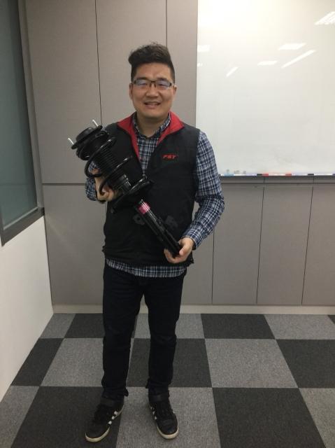 匯聖實業外銷部業務經理荊顥 (呂棊峰/攝影)