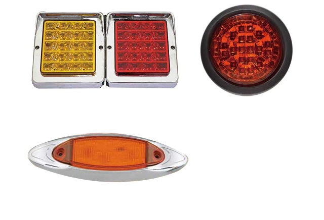 Samples of auto lights provided by Yu Chung Chi. (photo courtesy of Yu Chung Chi)