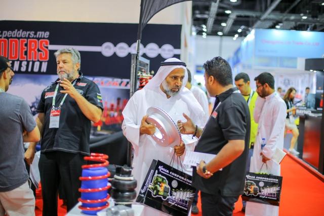 2017杜拜國際汽配展展出實況,中東買主詢問熱烈。(Automechanika Dubai/提供)
