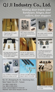 Cens.com News Picture Qi Ji-A Professional Manufacturer of Three Dimensional Hinge, Two Dimensional Wheel Sets and Three-range Sliding Door System