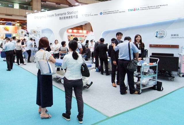「急診室情境專區」以聯合品牌主題展示,吸引眾多買主詢問,獲得業界人士好評 圖/貿協提供