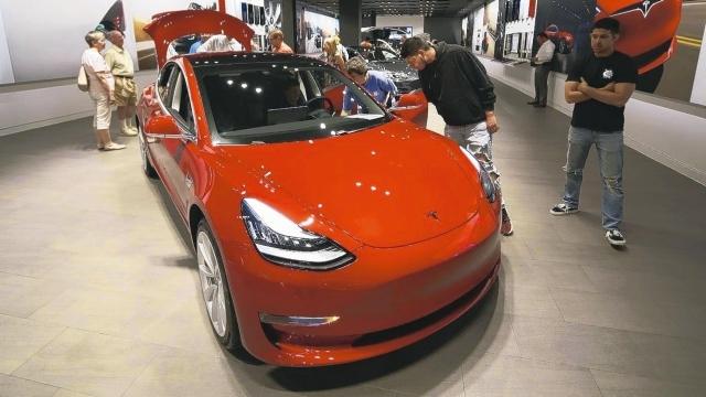 特斯拉Model 3 美聯社