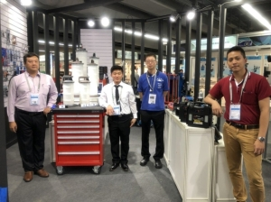Jolong Machine Industrial Co., Ltd. will be introducing their newest oil pump at Automechanika Frankfurt. (photo courtesy of Lisa Kuo)