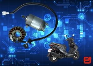 富立安國際股份有限公司製造品質優良的機車啟動馬達與磁電機。(富立安提供)