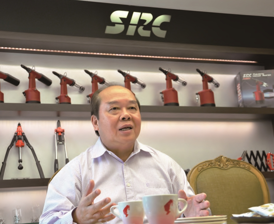 Special Rivets Corp's president Chang Yi-tsai, the chairman of the Taiwan Fasteners Trade Association is shown in this photo. (photo courtesy of Special Rivets Corp.)
