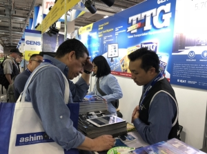Taiwan Transportation Equipment Guide, published by Economic Daily News (CENS.com), has garnered attention from many international buyers. (photo courtesy of Hsiao Yung-le)