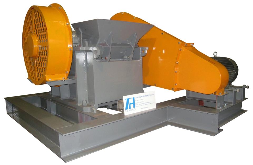 達竑機械製造的顎式碎石機。(達竑機械提供)