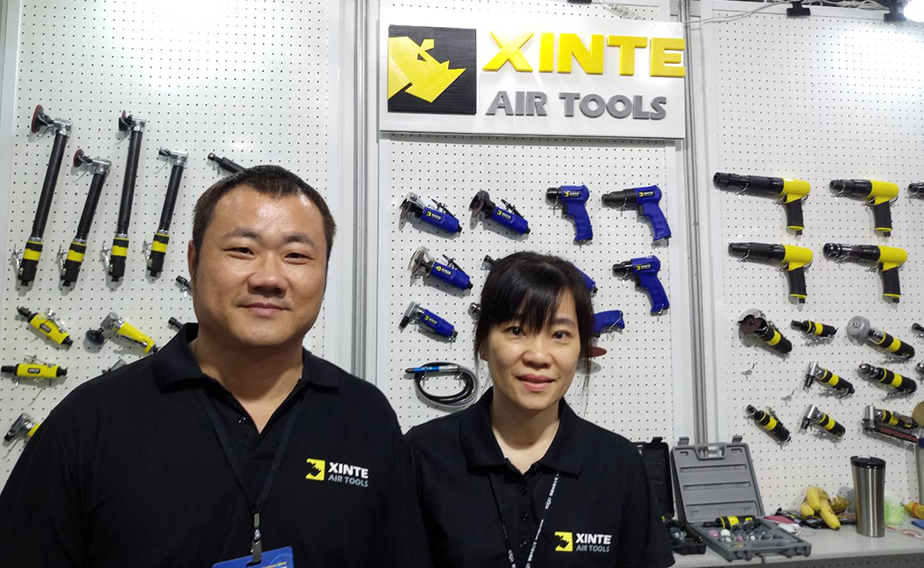 Xinte Industrial Corporation Ltd. rakes in praise at 2018 Taiwan Hardware Show, as a company capable of fast R&D and production. (photographed by Kuo Fang-lin)