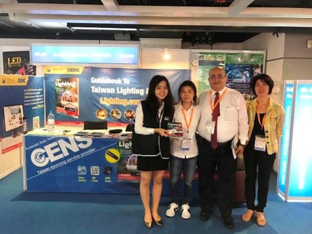 中經社CENS.com現場在香港秋燈展的攤位。(CENS.com)