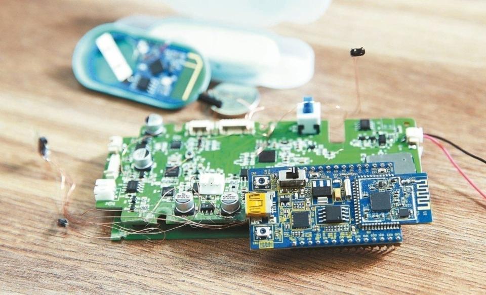 圖為客戶以網聯的晶片製作開發的終端產品。