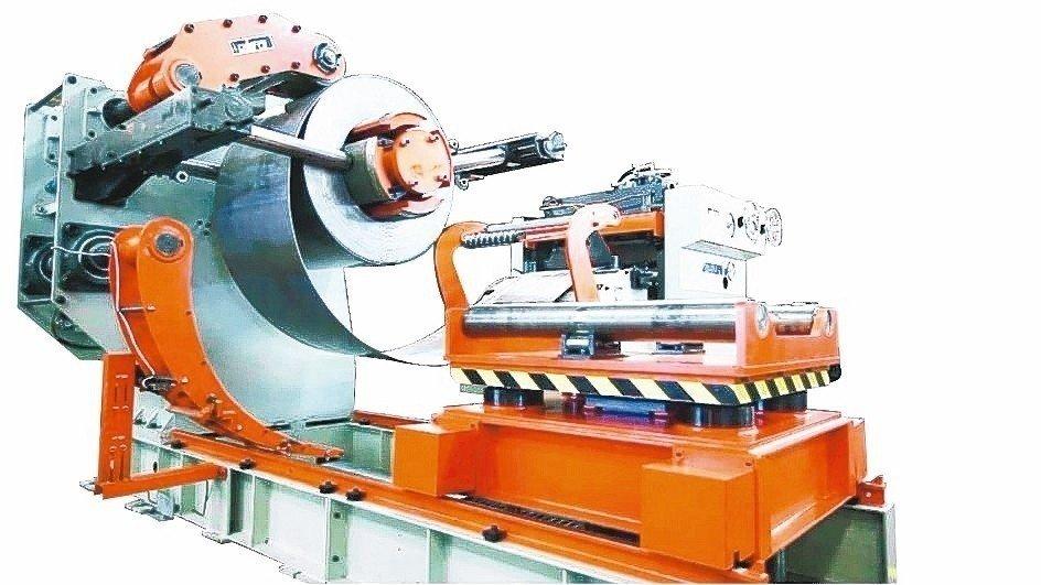 紀福研發的三機一體式整平送料機,將作業空間縮至最小。 紀福/提供