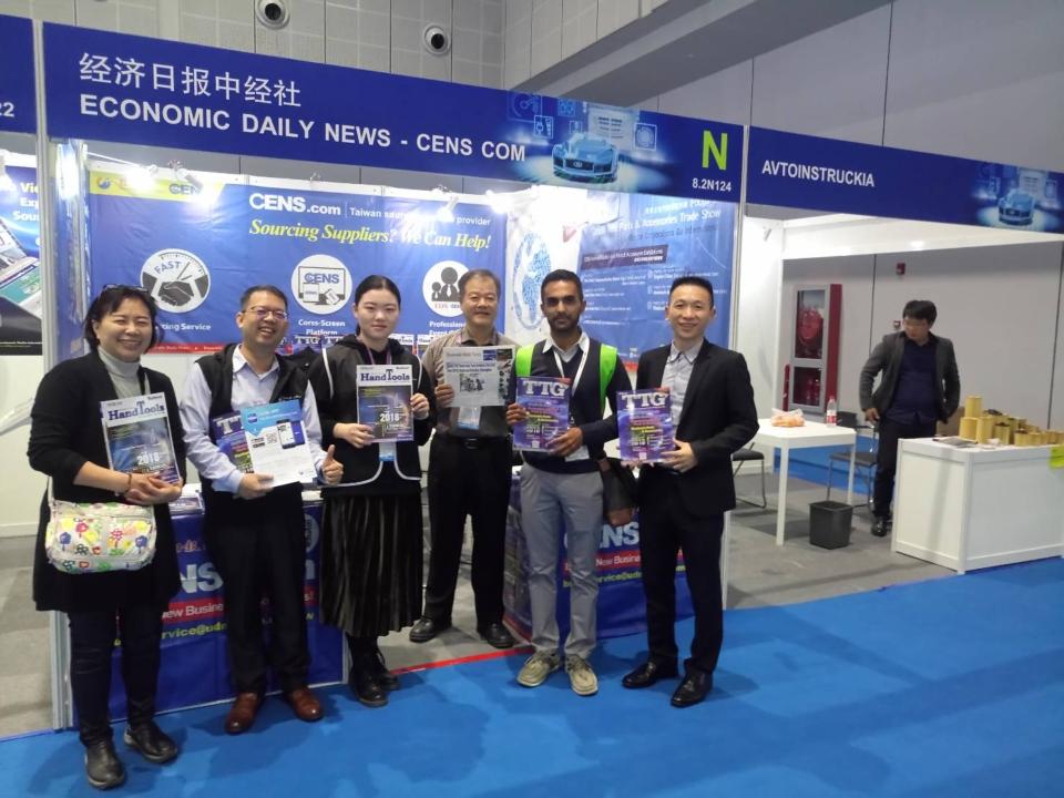 中經社CENS.com派出專業行銷團隊參家上海法蘭克福汽配展。(CENS.com)