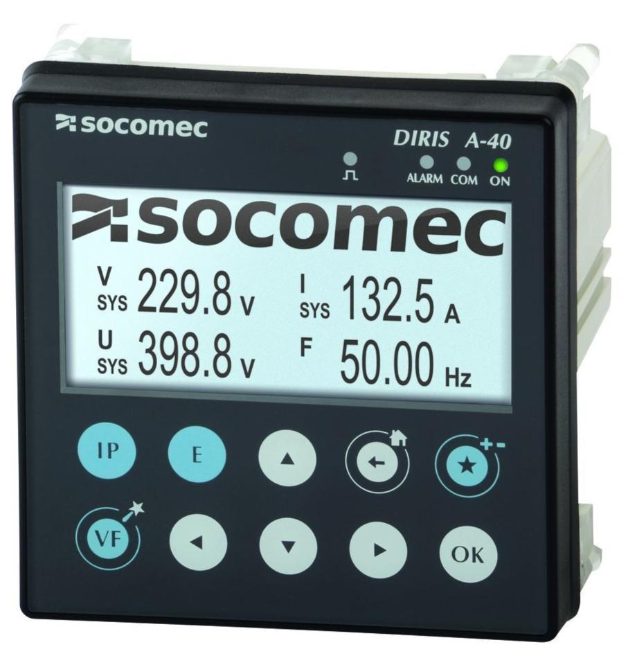 DIRIS A-40多功能電能品質分析精準測量儀表滿足眾多工商業用戶  賀琪公司/提供