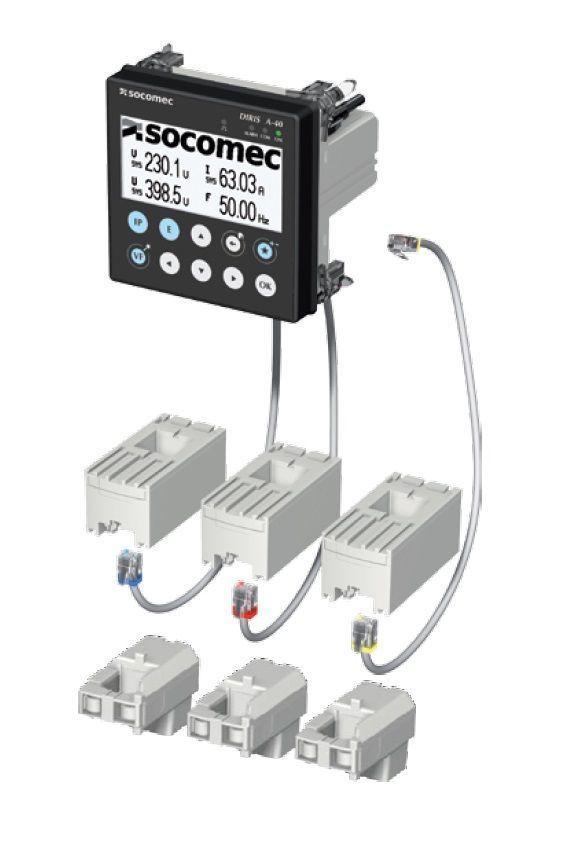 DIRIS A-40+電流互感器能使有效電能測量鏈的總體精度高達0.5級 賀琪公司/提供 facebook