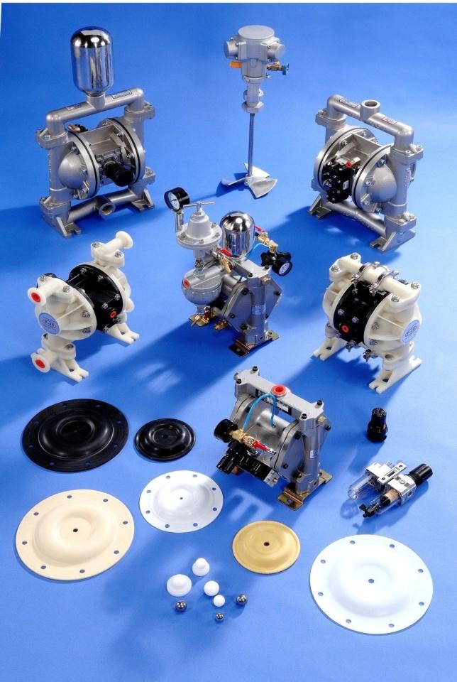 德鋒公司推出的金屬及非金屬氣動雙隔膜泵浦。 德鋒公司/提供