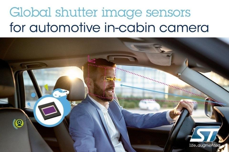 意法半導體先進影像感測器,強化下一代汽車安全系統的駕駛監測功能。與汽車和工業機器視覺的電子全域快門技術完美匹配,開創性的像素內線性高動態範圍。 意法半導體/提供