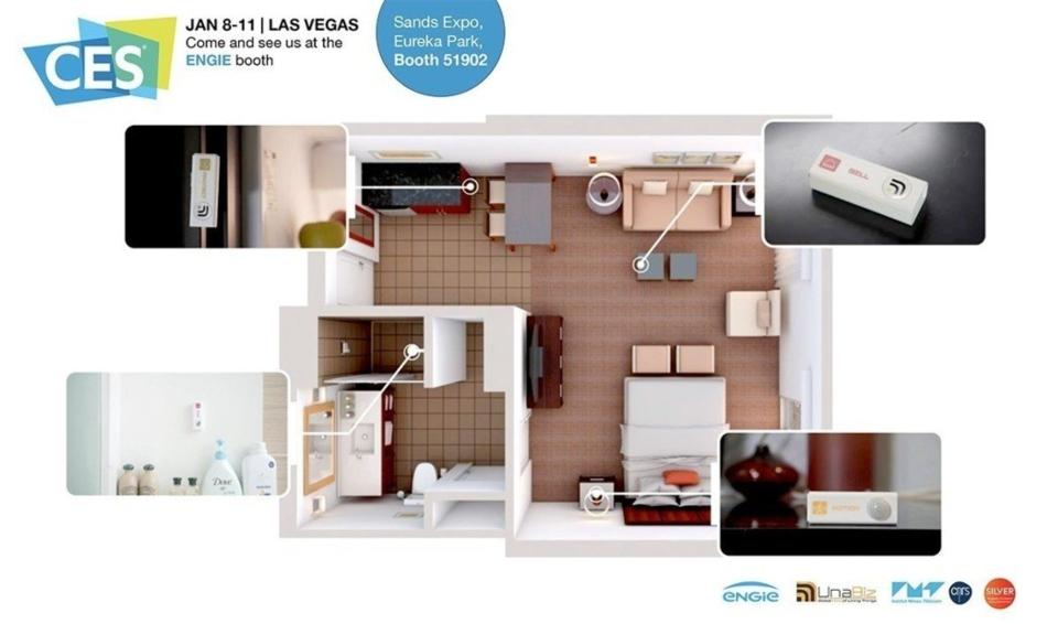 優納比「家庭4.0」為一套簡易的銀髮居家監控系統。 優納比/提供