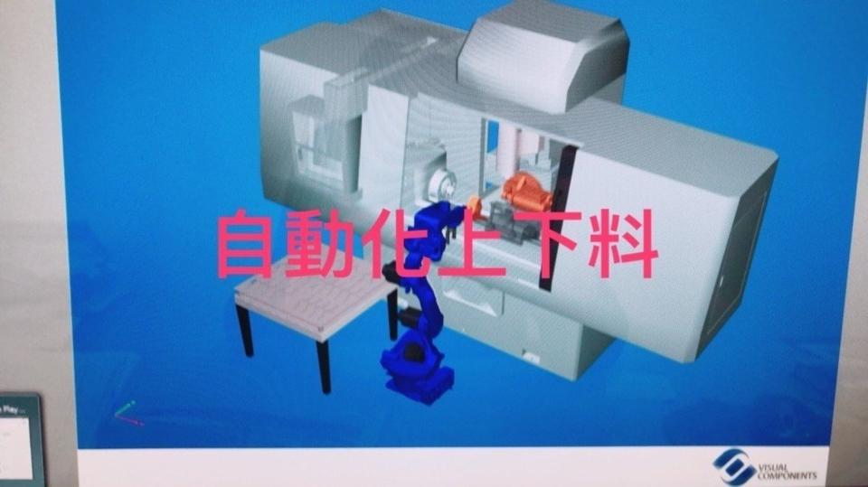 銳格精機多功能數控蝸桿加工機可搭配機械手進行自動上下料,24小時生產不間斷。 銳格精機/提供